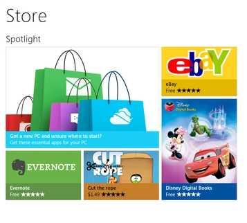 Detalles revelados sobre la tienda de aplicaciones de Windows 8