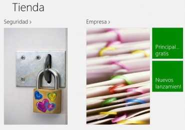Principales novedades en la tienda de aplicaciones de Windows 8