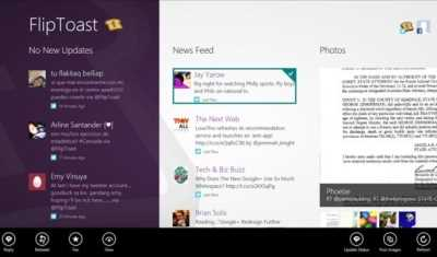 FlipToast, comparte tus experiencias en Facebook y Twitter directamente desde Windows 8