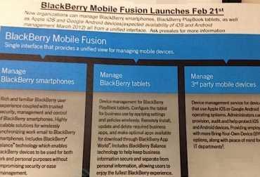 Confirmado, lanzamiento de BlackBerry Playbook OS 2.0 el 22 de Febrero, mobil fusion