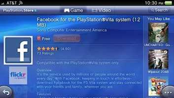 Facebook para PS Vita vuelve a estar disponible