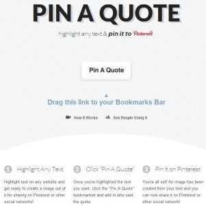 Pin A Quote, convierte texto en imagen para Pinterest